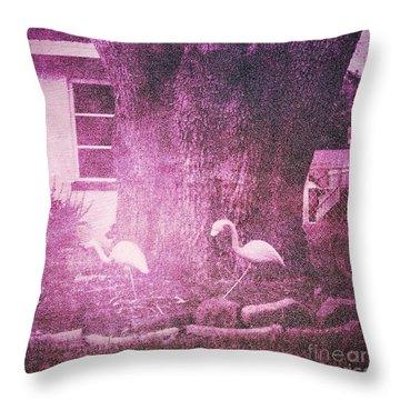 Flamingos Throw Pillow by Beth Williams