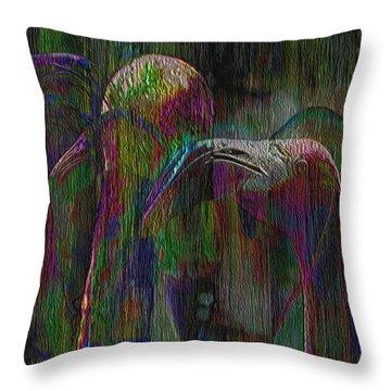 Flamingos Throw Pillow by Jack Zulli