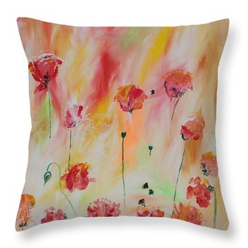 Throw Pillow featuring the painting Flanders Field by PainterArtist FIN