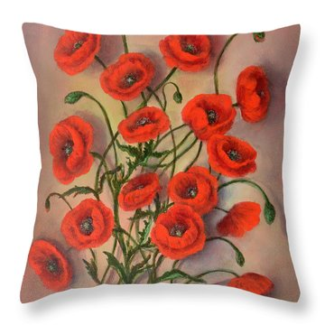 Flander's Poppies Throw Pillow