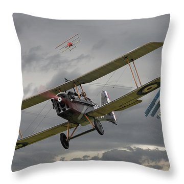Flander's Skies Throw Pillow