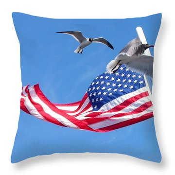 Flapping And Flack Throw Pillow