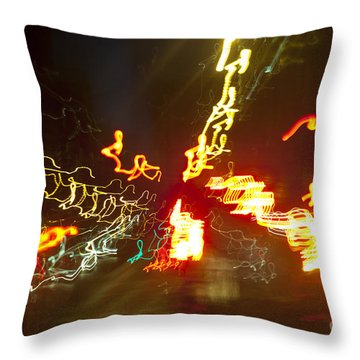 Flare Of Lights Throw Pillow