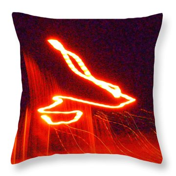 Flare Up On The Sun Throw Pillow
