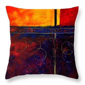 Flash Abstract Painting Throw Pillow