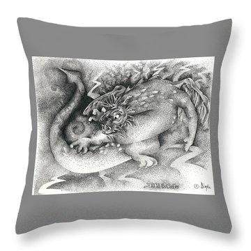 Real Fake News Flash Bulletin Throw Pillow by Dawn Sperry