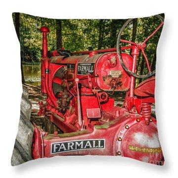 Flash On Farmall Throw Pillow