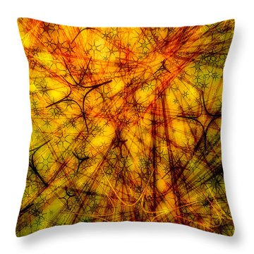 Flashes Of Life Throw Pillow by Matt Lindley