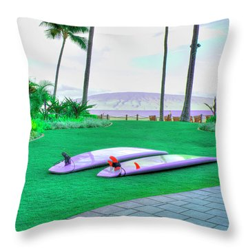 Flat Day Throw Pillow