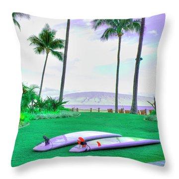Flat Day Throw Pillow