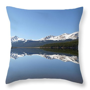 Flat Water Throw Pillow