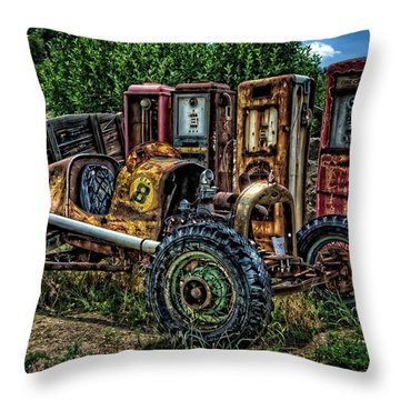 Throw Pillow featuring the photograph Flathead Ford Racer by Ken Smith