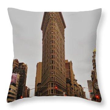 Flatiron Throw Pillow by Benjamin Yeager