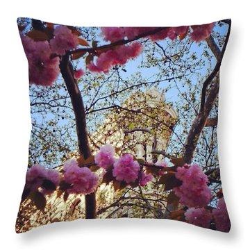 Blossoming Flatiron Throw Pillow