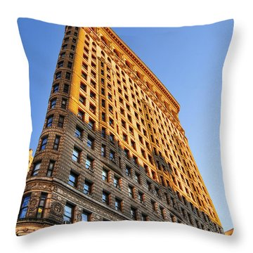 Flatiron Building Profile Too Throw Pillow by Randy Aveille