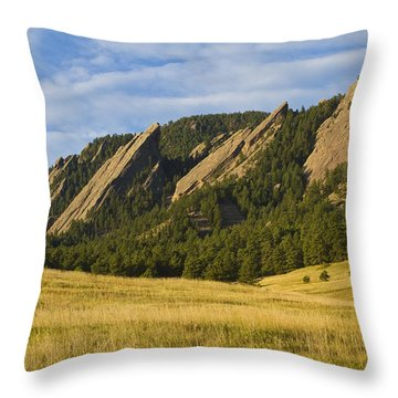 Flatiron Morning Light Boulder Colorado Throw Pillow