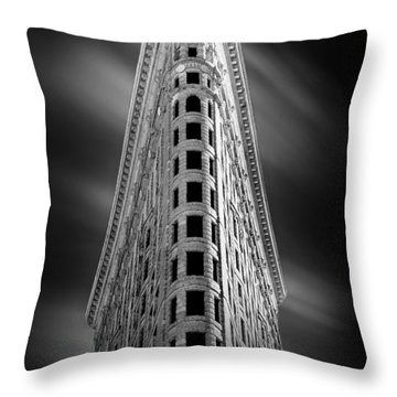 Flatiron Nights Throw Pillow