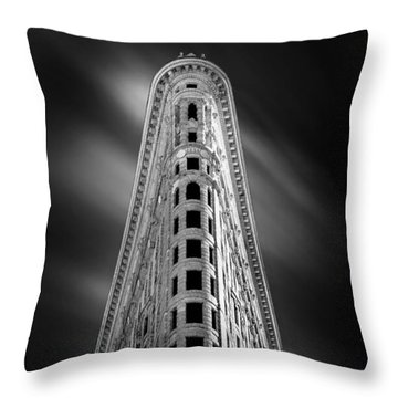 Flatiron Nights Throw Pillow by Az Jackson