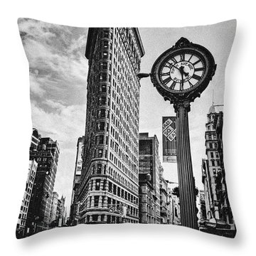 Flatiron Rush Throw Pillow by Andrew Paranavitana