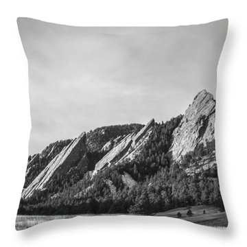 Flatirons B W Throw Pillow