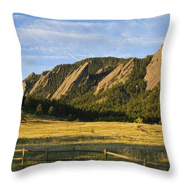 Flatirons From Chautauqua Park Throw Pillow