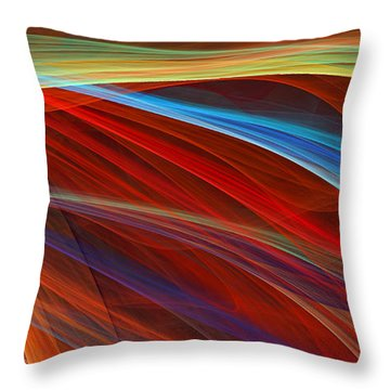 Flaunting Colors Throw Pillow by Lourry Legarde
