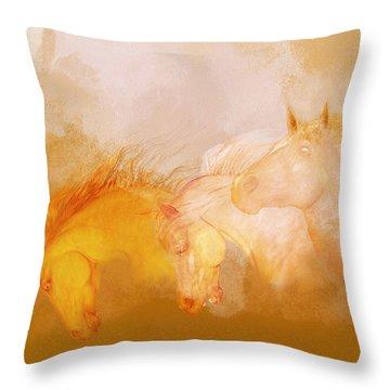 Flaxen Manes Throw Pillow
