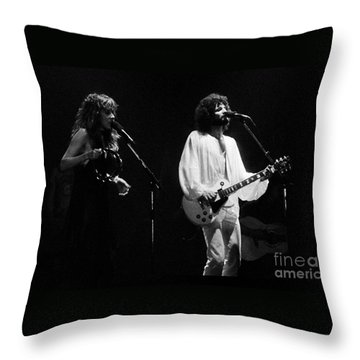 Fleetwood Mac In Amsterdam 1977 Throw Pillow