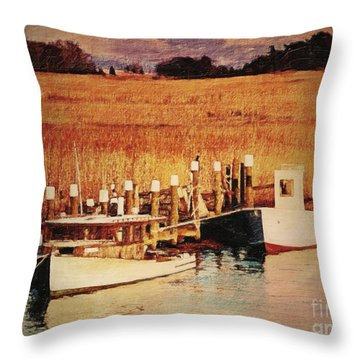 Flemings Landing Delaware Throw Pillow by Lianne Schneider