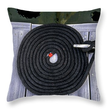 Flemish Flake Rope Coil Throw Pillow by Marty Saccone