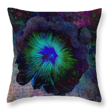 Fleur De Bleu De Cru Throw Pillow
