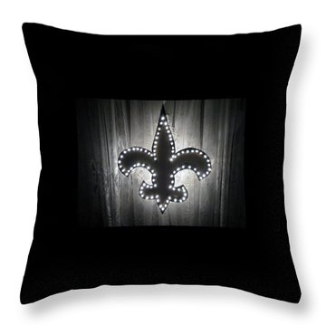 Fleur De Light Throw Pillow