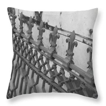 Throw Pillow featuring the photograph Fleur De Lis by Beth Vincent