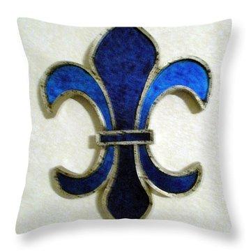 Throw Pillow featuring the photograph Fleur De Lis by Joseph Baril