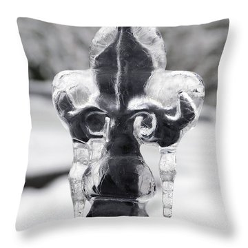 Fleur-de-lis On Ice Throw Pillow