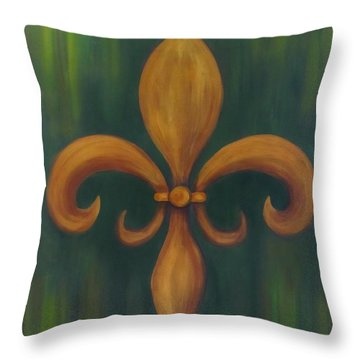 Fleur-de-lis Throw Pillow