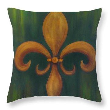 Fleur-de-lis Throw Pillow