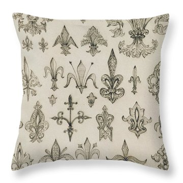 Fleur De Lys Designs From Every Age And From All Around The World Throw Pillow by Jean Francois Albanis de Beaumont