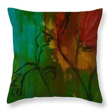 Fleur Throw Pillow by Robin Maria Pedrero