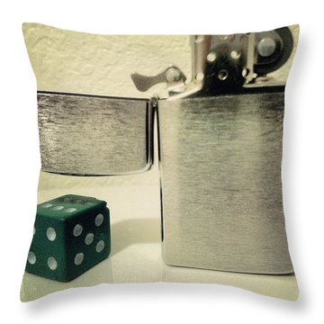 Flicker Throw Pillow by Gabe Arroyo