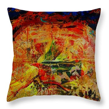 Free Bird Throw Pillow by Jean Cormier