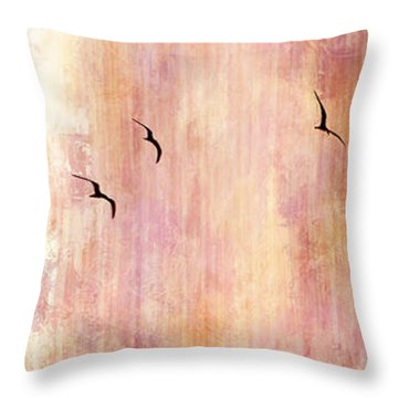 Flight Home - Abstract Art Throw Pillow by Jaison Cianelli