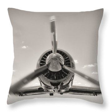 Flight In Black And White Throw Pillow