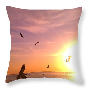 Throw Pillow featuring the photograph Flight Into The Light by Chris Tarpening