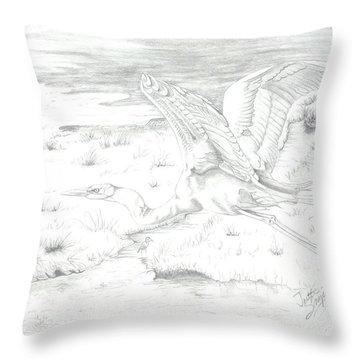Flight Of Grace Throw Pillow