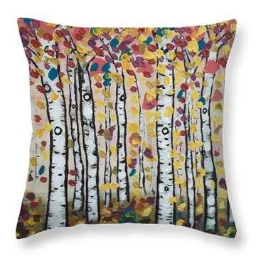 Flight Of Leaves Throw Pillow