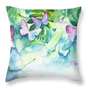 Flight Of The Butterflies Throw Pillow