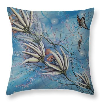 Flight Of The First Key Throw Pillow