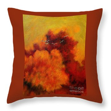 Flight Of The White Birds Throw Pillow