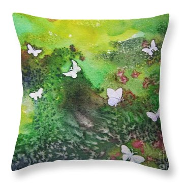 Flight Of White Throw Pillow